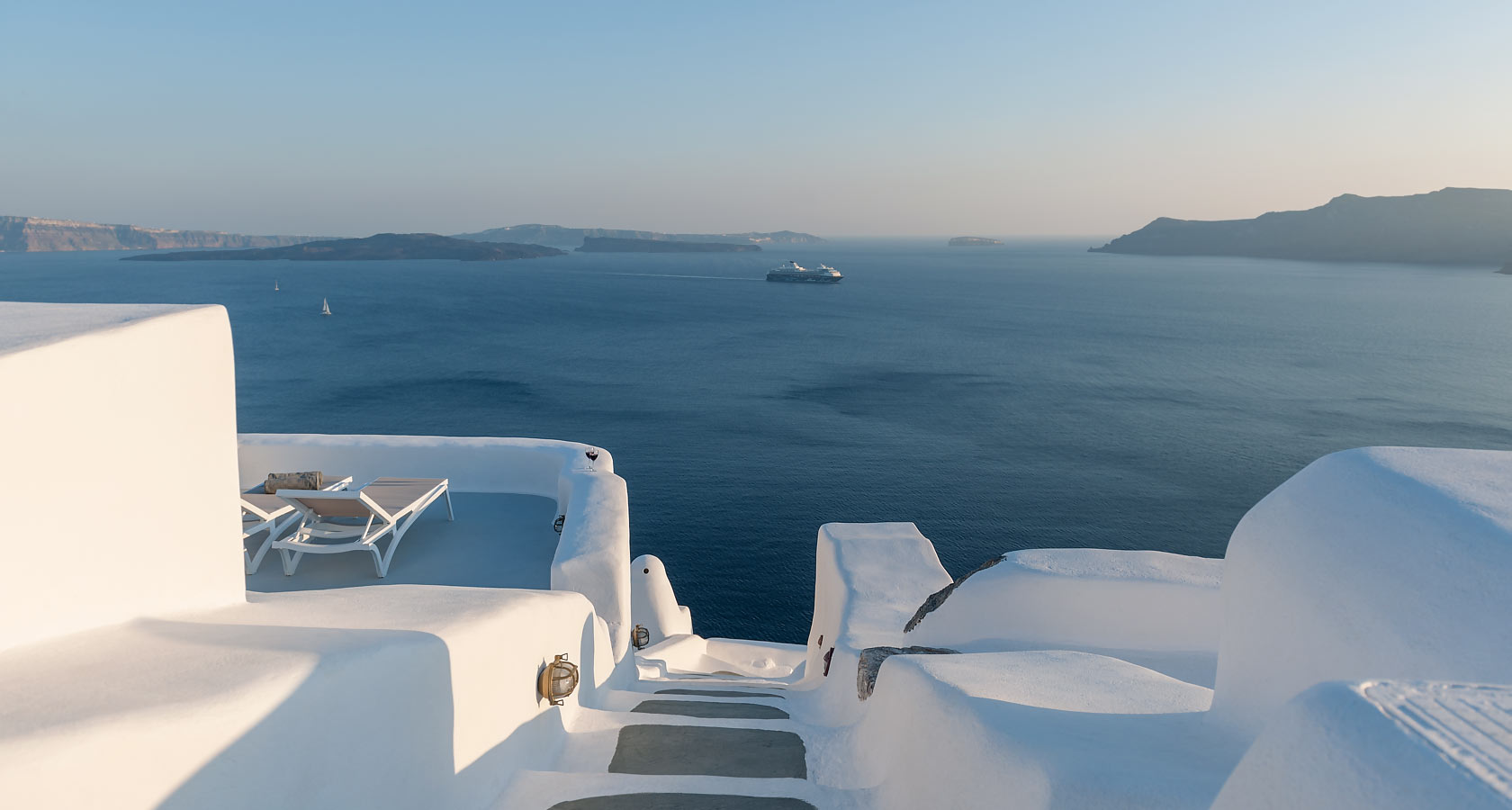 Exceptional sea view from our cave villas & cave houses in Oia Santorini