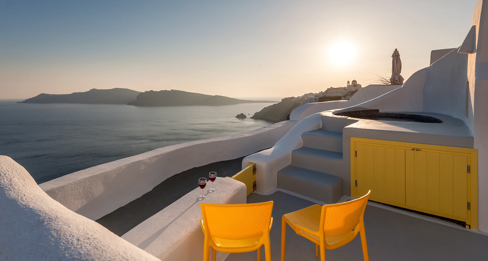 Spectacular Sea & Caldera View by Anemomilos private villas - cave houses